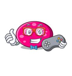 gamer ellipse mascot cartoon style vector image