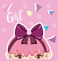 Girl beatiful face vector