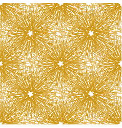 Gold seamless pattern with bright firework vector