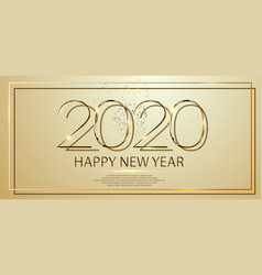 happy new year 2020 text design greeting vector image