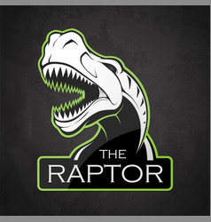 head of dinosaur on a dark background vector image