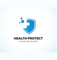 Health protect logo creative symbol vector