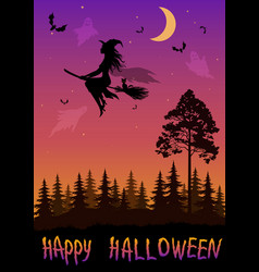 holiday halloween background vector image