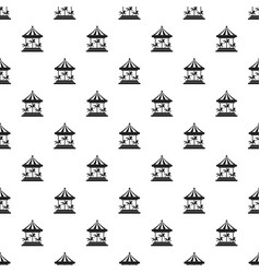 horse carousel pattern seamless vector image