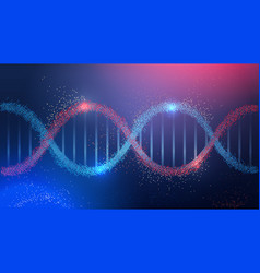 human genetic dna helical molecule structure vector image