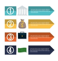 Infographic of money and financial item design vector