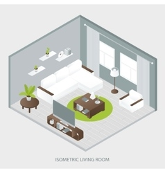Isometric Sitting Room vector image