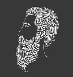 man in profile vector image