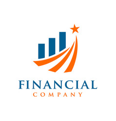 marketing and financial business logo vector image