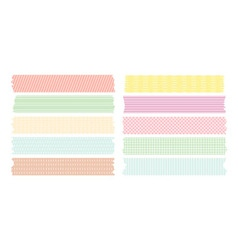 Masking tape line set vector