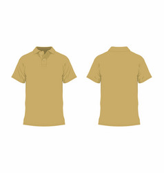 Mens mustard t shirt vector