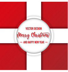 merry christmas red and white color background vector image