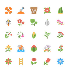 Nature and ecology flat colored icons 3 vector