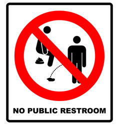 No peeing prohibition sign vector
