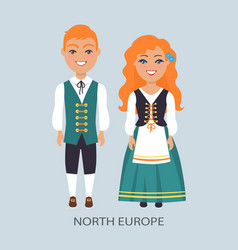 north europe people customs vector image