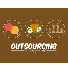 Outsourcing design vector