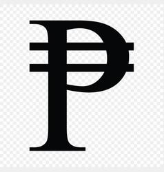 Philippine peso sign vector