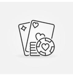 Poker line concept icon vector image