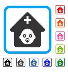 Prenatal hospital framed icon vector