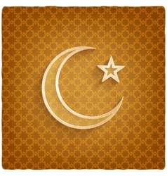 Ramadan kareem background with crescent moon and vector