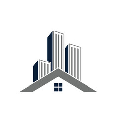 real estate building icon design template isolated vector image