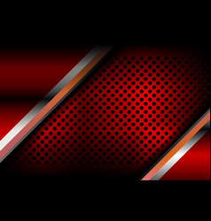 Red abstract metal background vector