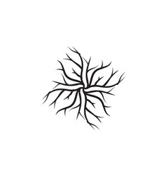 root icon design template isolated vector image