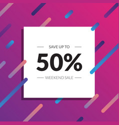 sale banner template up to 50 off sale design in vector image