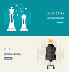 Set business concepts for web banners vip vector