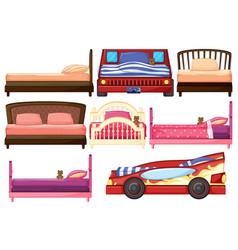 set children bed vector image