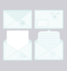 Set closed and open envelopes vector