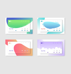 set of website templates landing page layouts vector image
