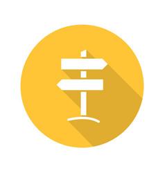 Signpost flat design long shadow glyph icon vector