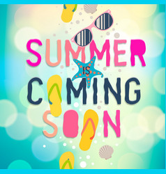 Summer coming soon summer holiday poster vector