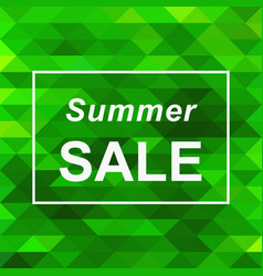 Summer sale banner on abstract triangle background vector
