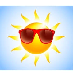 Summer sun sunglasses vector