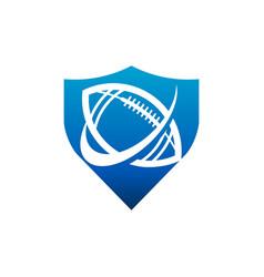 swoosh american football shield logo icon vector image