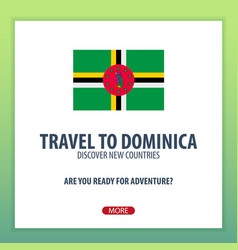 Travel to dominica discover and explore new vector