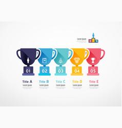 Trophy infographic business concept slide vector
