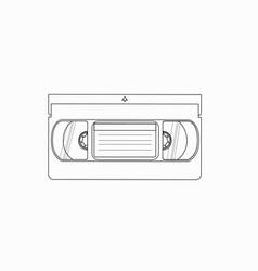 Videocassette vhs tape vector