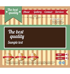 Website template elements vintage style vector image