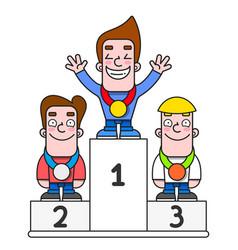 White winners podium pedestal vector