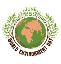 World environment day concept june 5 vector