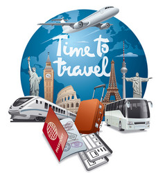 world travel and journey vector image