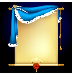 background with blue mantle vector image