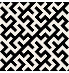 Black and white maze ornament seamless vector