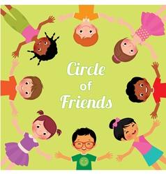 Friendship children of the world vector image