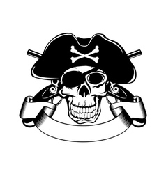pirate and crossed pistols vector image vector image
