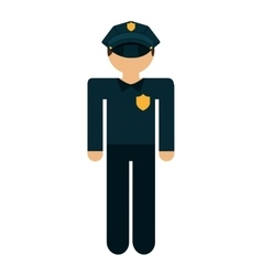police agent isolated icon design vector image