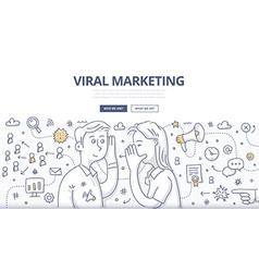 Viral marketing doodle concept vector